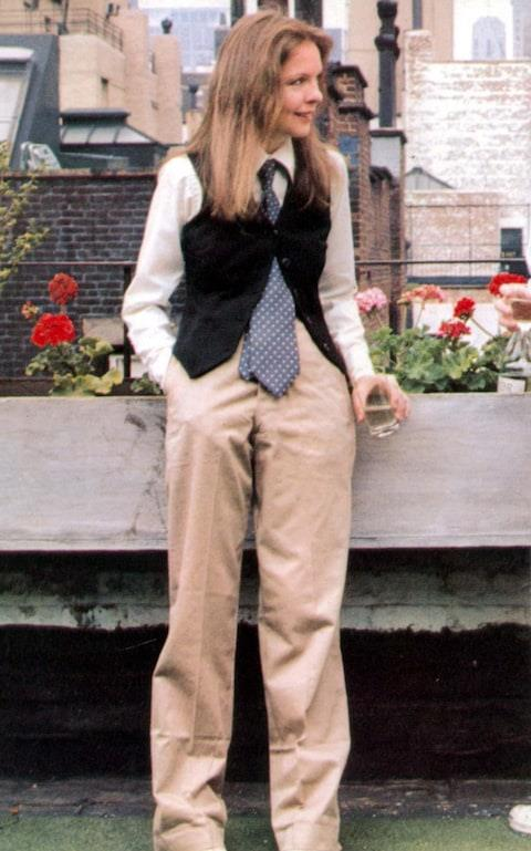 **The famous *Annie Hall* suit (1977)** <br><br> One of the most iconic fashion moments in movie history, the suits worn by Diane Keaton's 'Annie Hall' (in the film of the same name) weren't everyone's cup of tea in the late '70s. Thankfully, society has progressed since then. <br><br> Keaton's suits (plucked from her own wardrobe) provided a base-point for women to begin appropriating mens' clothing on their own terms, and helped break down the barrier between clothes that were traditionally 'masculine' and 'feminine'. Keaton has also become synonymous with her love of suits, and almost always wears them on the red carpet.