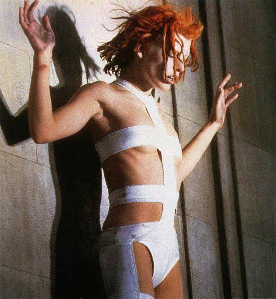 """**The scandalous sci-fi costumes in *The Fifth Element* (1997)** <br><br> Those who expected a conventional science fiction movie were a little shocked and confused when Luc Besson's *The Fifth Element* hit cinemas in 1997. Starring Bruce Willis and a 22-year-old Milla Jovovich, all of the costumes were crafted by fashion designer [Jean Paul Gaultier](https://www.harpersbazaar.com.au/fashion/jean-paul-gaultier-final-show-19843