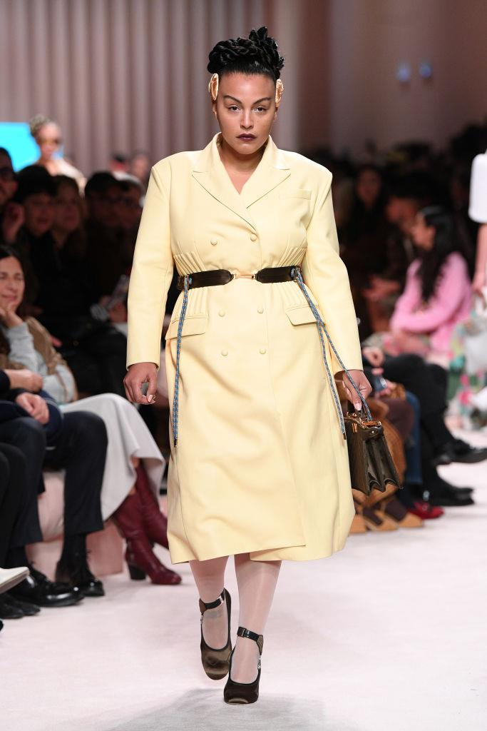 """**Paloma Elsesser** <br><br> During the autumn/winter '20 runway shows, Elsesser became the first size-diverse model to walk for Fendi, and walked for Alexander McQueen in the same season. In a 2016 interview with [*i-D* magazine](https://i-d.vice.com/en_au/article/59bn38/paloma-elsesser-is-all-about-being-the-best-version-of-you
