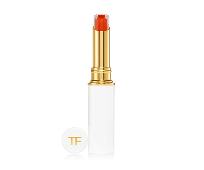 """**Lip Gelee in Sunlit by Tom Ford, $72 at [David Jones](https://www.davidjones.com/brand/tom-ford/cosmetics/22559075/Lip-Gelee.html target=""""_blank"""")**<br></br> The coloured core imparts tint while the transparent gelee boosts hydration."""