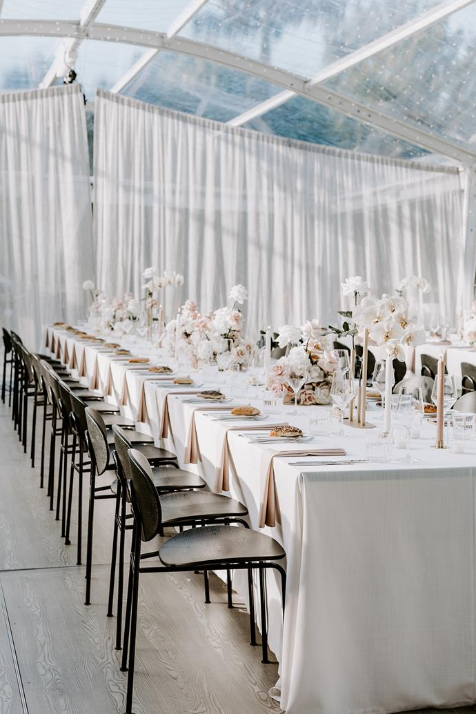 **On her vision for the day:** We always wanted a very intimate wedding with a minimalist chic feel. The Style Co., who were our wedding planners and stylists, were amazing. They nailed the brief and made it come life.