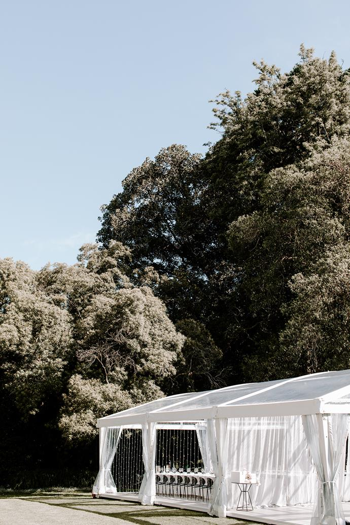 **On the venue**: Gardens House, Royal Botanic Gardens—it was the perfect venue.
