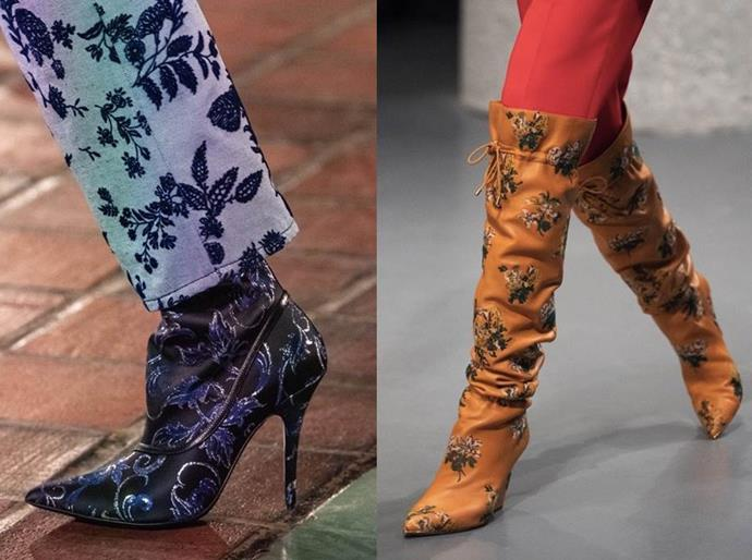 **Garden Prints** <br><br> Every season fashion announces its new bent on florals. For AW20, designers such as Rodarte and Tory Burch gave the sweet pattern a subversive makeover by replacing dreamy colourways with straight-shooting shades and metallic touches.