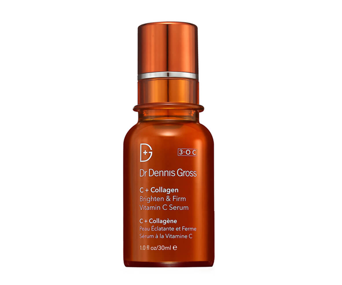 "**C+ Collagen Brighten + Firm Vitamin C Serum by Dr. Dennis Gross, $125 at [MECCA](https://www.mecca.com.au/dr-dennis-gross/c-collagen-brighten-firm-vitamin-c-serum/I-026826.html|target=""_blank""