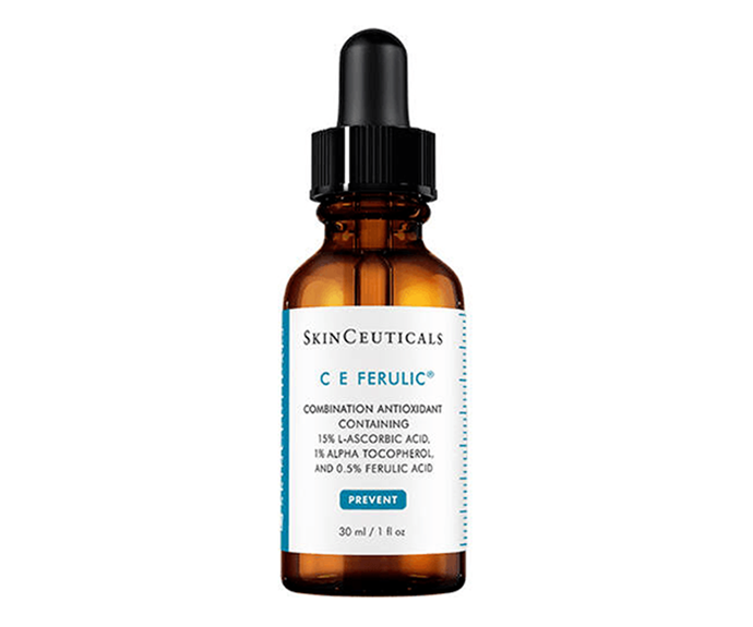 "**C E Ferulic Serum by SkinCeuticals, $210 at [Adore Beauty](https://www.adorebeauty.com.au/skinceuticals/skinceuticals-c-e-ferulic-serum.html|target=""_blank""
