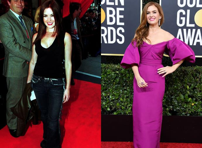 "**Isla Fisher**<br><br>  Like Byrne, *Home and Away* alum Isla Fisher also had a casual approach to red carpet dressing when she first hit the circuit in the early noughties, as demonstrated by her jeans-and-top look at the London premiere of the film *Best* in 2000 (pictured left). Nowadays, it's a more formal affair, with the comedic actress typically wearing (and looking incredible in) vivid jewel tones, which she did most recently at the [Golden Globe Awards](https://www.harpersbazaar.com.au/fashion/golden-globes-2020-red-carpet-19755|target=""_blank"") in January 2020 (pictured right)."