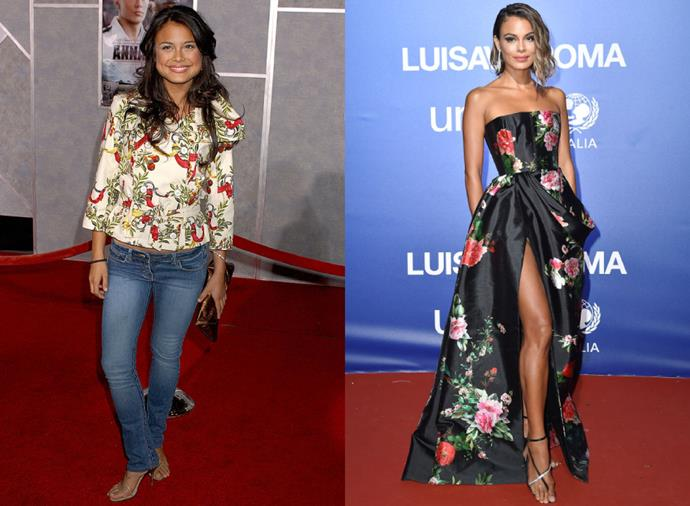 "**Nathalie Kelley**<br><br>  Sydney-raised actress [Nathalie Kelly](https://www.harpersbazaar.com.au/bazaar-bride/nathalie-kelley-wedding-17834|target=""_blank"") of *Dynasty* reboot fame may have favoured florals on the red carpet in the mid noughties (as pictured left in 2006), but her take on botanical prints in more recent times—and her red carpet style, in general—has since been significantly elevated (as pictured left, in 2019)."