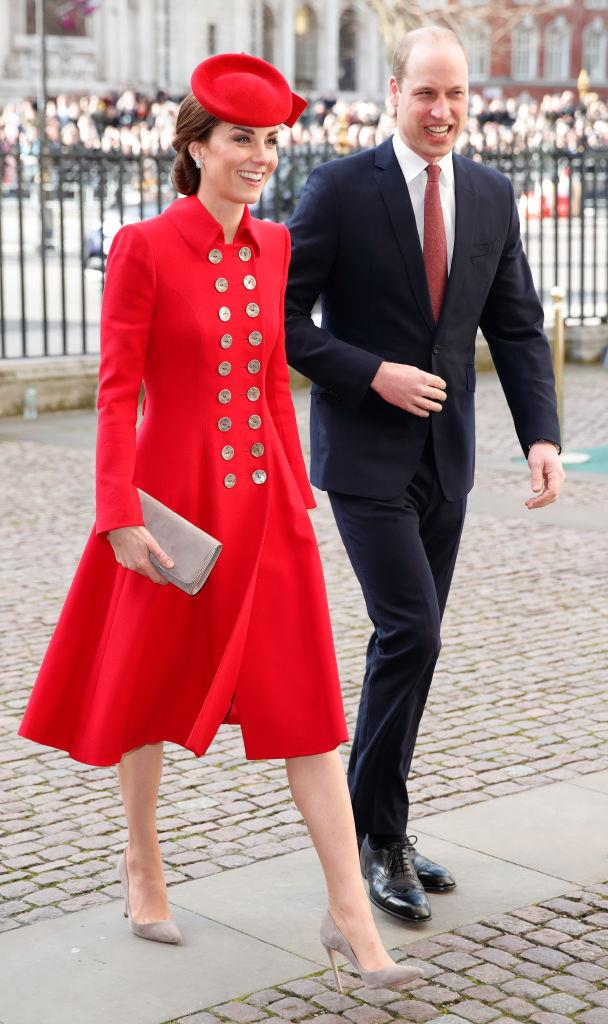 Kate Middleton (in Catherine Walker) and Prince William in March 2019.