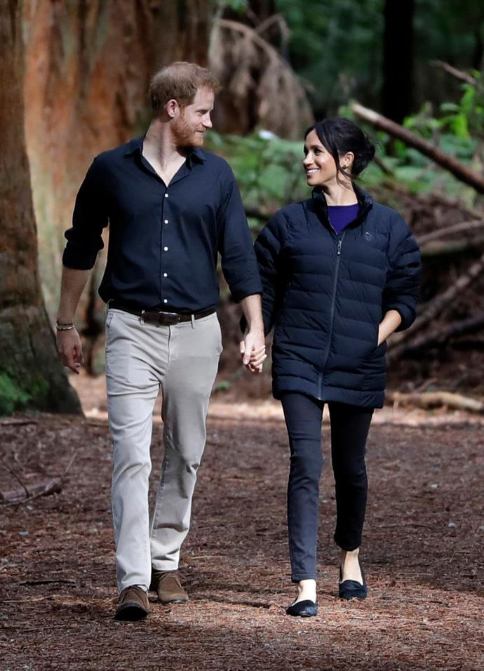 Prince Harry and Meghan Markle in New Zealand in October 2018.