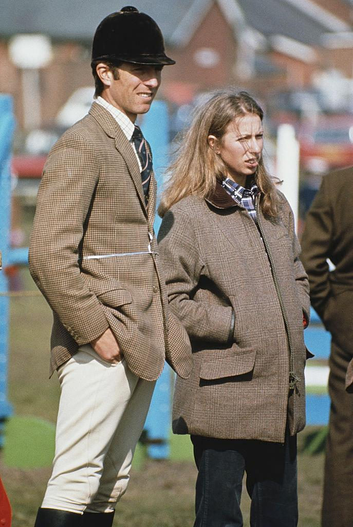 Mark Phillips and Princess Anne in equestrian get-up in 1975.