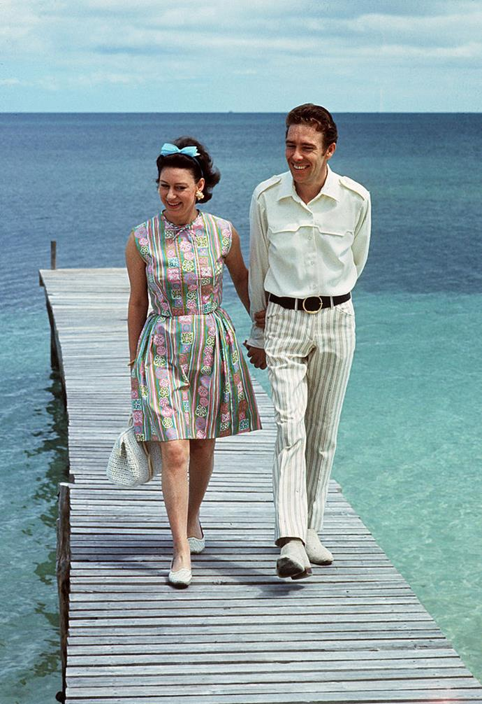 Princess Margaret and Lord Snowdon in The Bahamas in 1967.