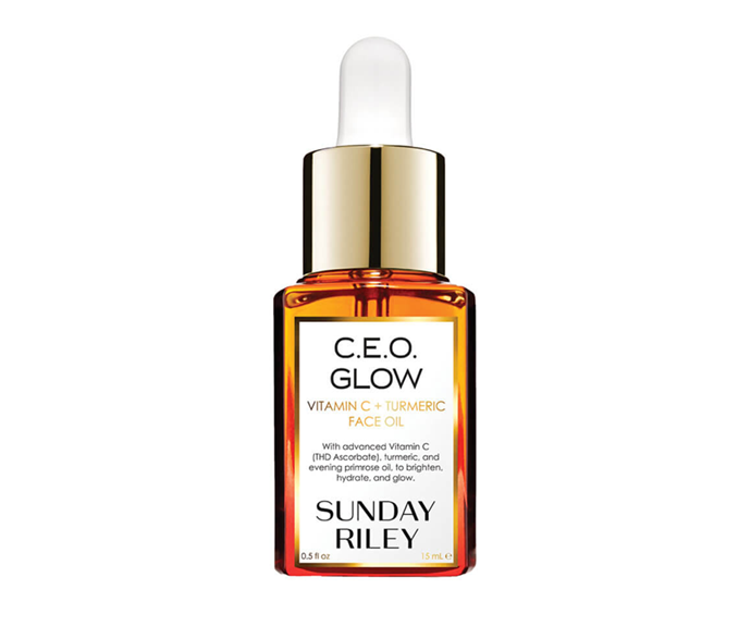 "**C.E.O Glow Vitamin C + Turmeric Oil by Sunday Riley, $64 at [MECCA](https://www.mecca.com.au/sunday-riley/ceo-glow-vitamin-c-turmeric-oil/V-037324.html|target=""_blank""