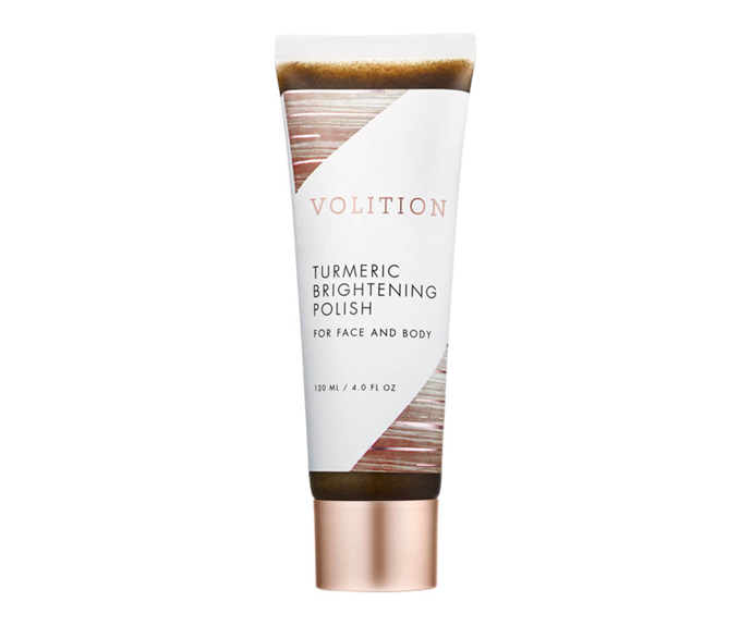 "**Turmeric Brightening Polish by Volition Beauty, $61 at [MECCA](https://www.mecca.com.au/volition-beauty/turmeric-brightening-polish/I-042850.html|target=""_blank""