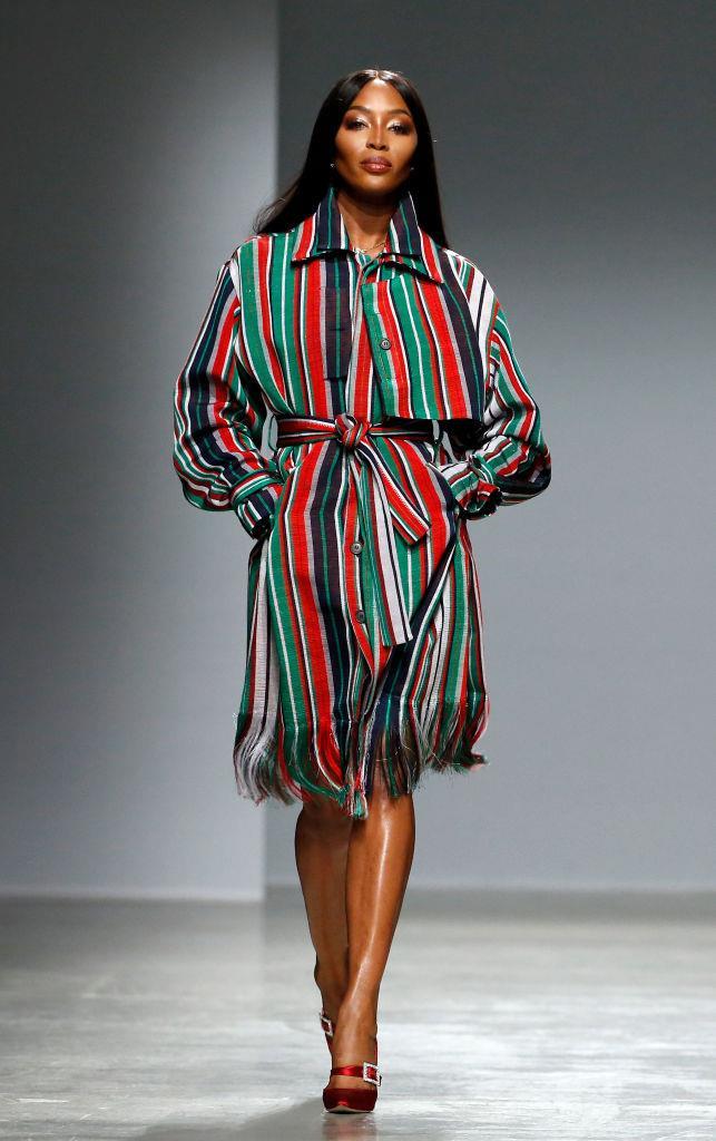 Walking at Kenneth Ize's autumn/winter '20 show, which was also the designer's Paris Fashion Week debut.