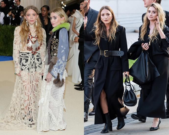 **Mary-Kate and Ashley Olsen** <br><br> Given their lifelong love of fashion, it's not surprising that the Olsen Twins eventually retired from acting to focus on crafting clothes of their own. The sisters now own and operate two brands—the high-fashion friendly The Row, and its more affordable sibling, Elizabeth & James—and are known and loved for their monochromatic outfit choices, often worn in synchronicity.