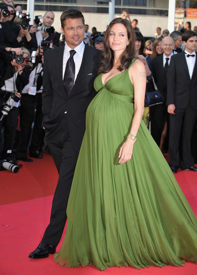Angelina Jolie in Max Azria at the 2008 Cannes Film Festival.