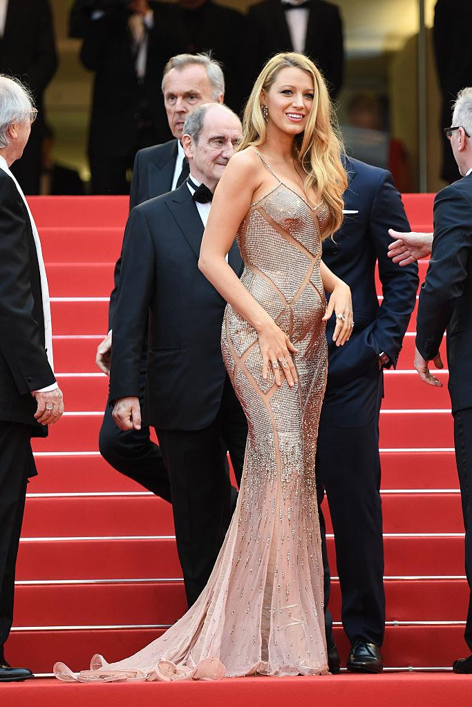 Blake Lively in Versace at the 2016 Cannes Film Festival.
