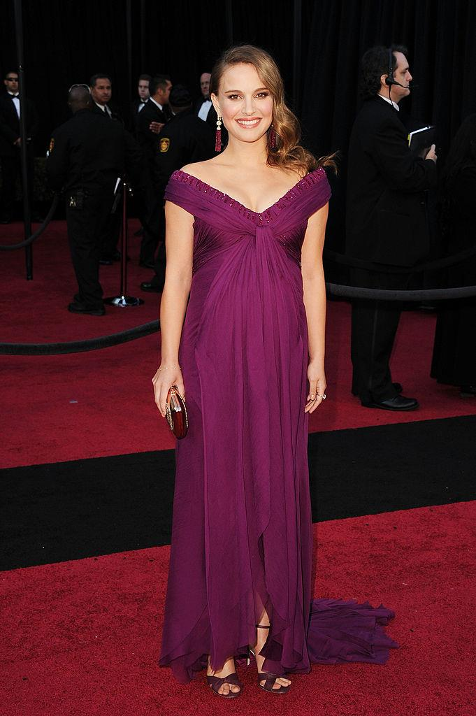 Natalie Portman in Rodarte at the 2011 Academy Awards (the year she won Best Actress for her performance in 2010's *Black Swan*).