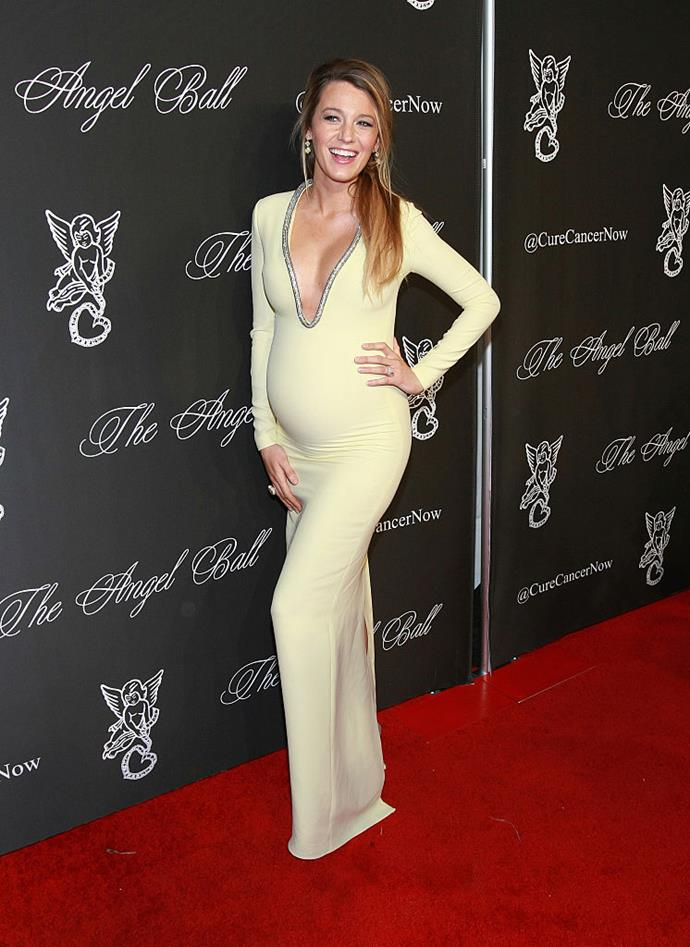 Blake Lively in Gucci at an event in 2014.