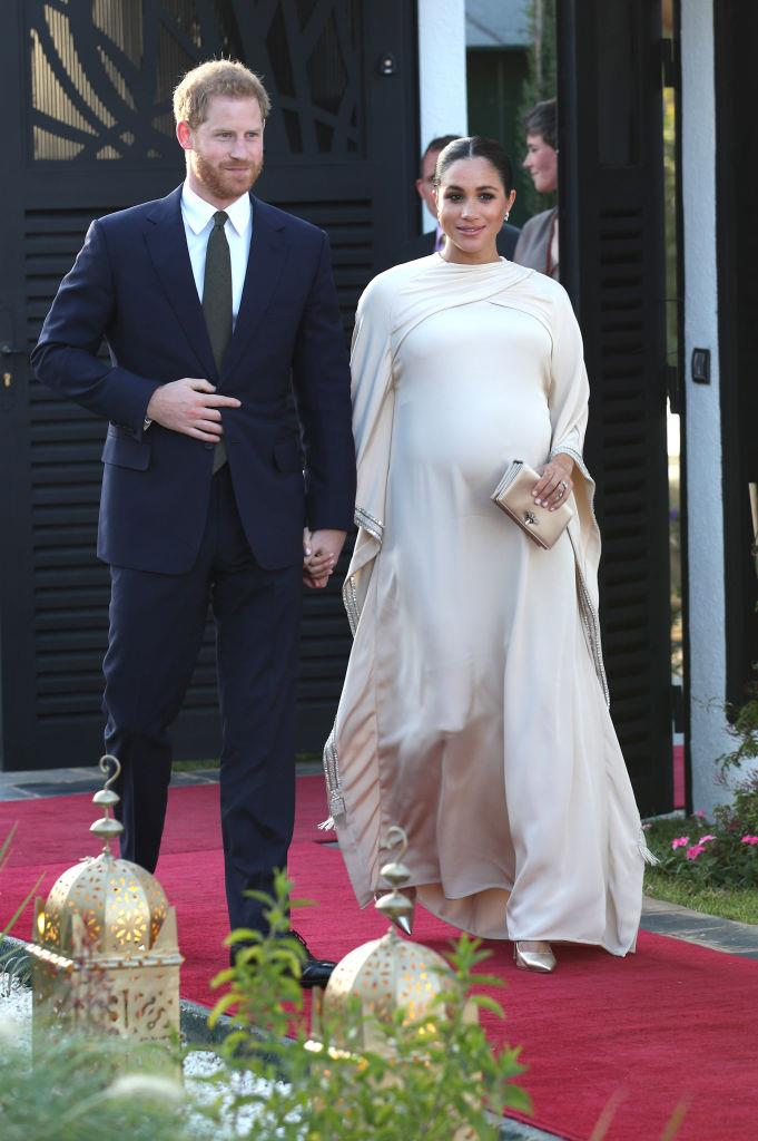 Duchess Meghan Markle in Dior during a visit to Morocco in February 2019.