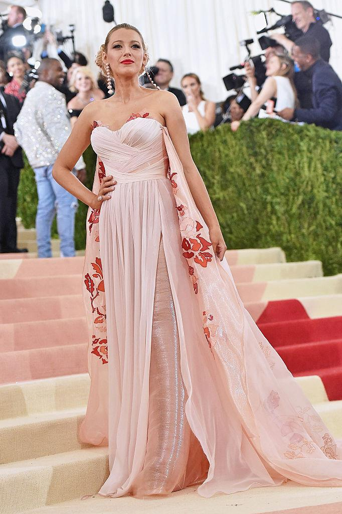 Blake Lively in Burberry at the 2016 Met Gala.