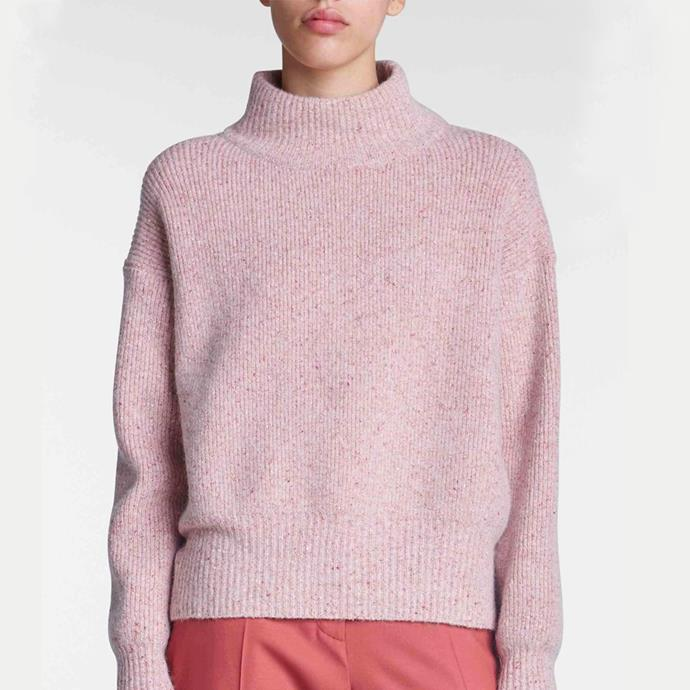 """Gabe Sweater in Faded Rose, $649 from [Jac + Jack](https://jacandjack.com/collections/womens-knitwear/products/gabe-sweater-faded-rose