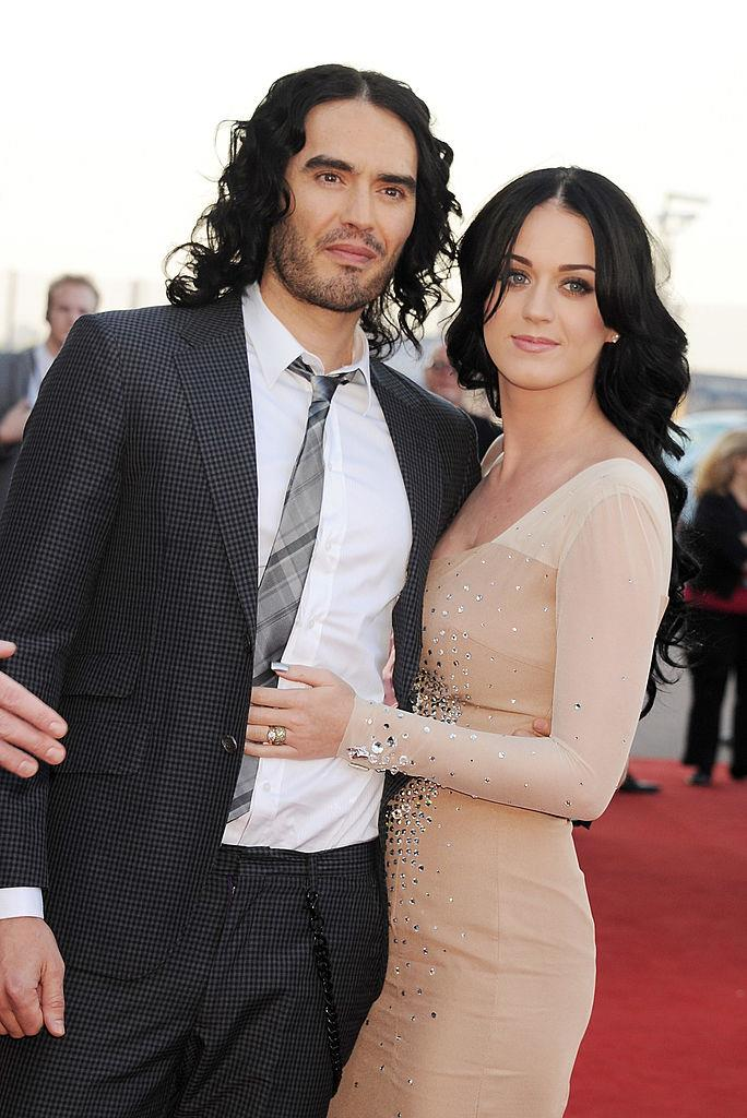 **Katy Perry and Russell Brand**<br><br>  After getting engaged on New Year's Eve in 2010, Katy Perry and Russell Brand famously married in India, just across from the tiger sanctuary where Brand proposed. The private wedding reportedly featured 21 camels, some elephants and a few horses for the procession to pay tribute to Indian culture, but followed a traditional Catholic ceremony to honour Perry's faith.