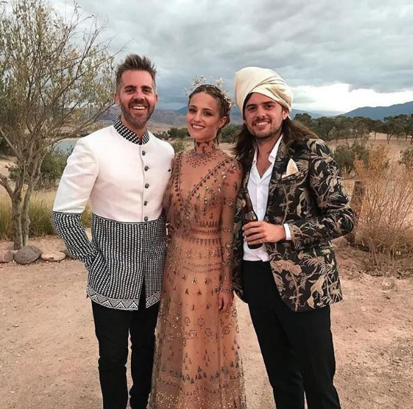**Diana Agron and Winston Marshall**<br><br>  In late 2016, *Glee* star Diana Agron and Mumford & Sons banjoist Winston Marshall (pictured right) wed in a lavish three-day ceremony in Morocco—where the bride reportedly rode a camel down the aisle. In addition to her unusual choice of transport, Agron eschewed the usual white dress for a blush Valentino gown with transparent overlays straight from the maison's fall/winter '16/'17 collection, costing an estimated AUD $30,473.<br><br>  *Image via @gleecastnews*