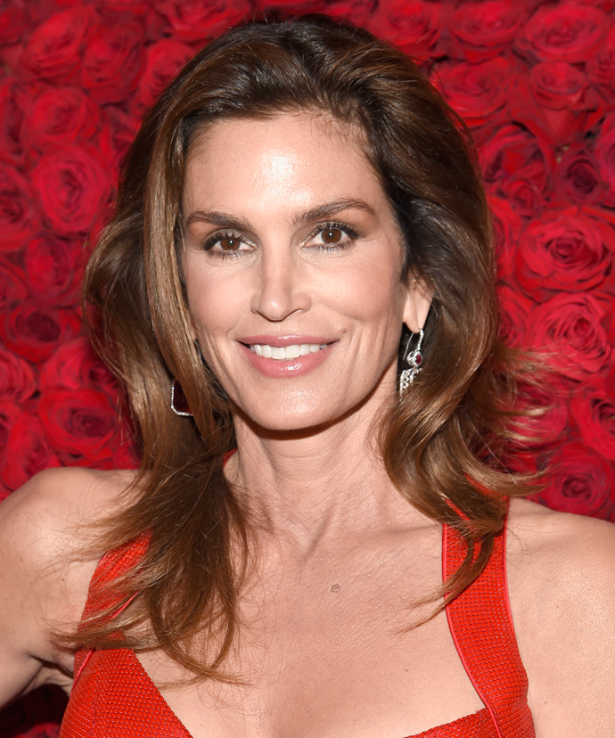 """**Cindy Crawford**<br></br> """"I'm not going to lie to myself; past a certain age, creams work on the texture of your skin but in order to restore elasticity all I can really count on is vitamin injections, botox, and collagen,"""" Crawford has shared. """"I have a very simple, healthy life, which works miracles. I drink a lot of water, watch what I eat, and exercise… but I owe the quality of my skin to my cosmetic surgeon."""""""