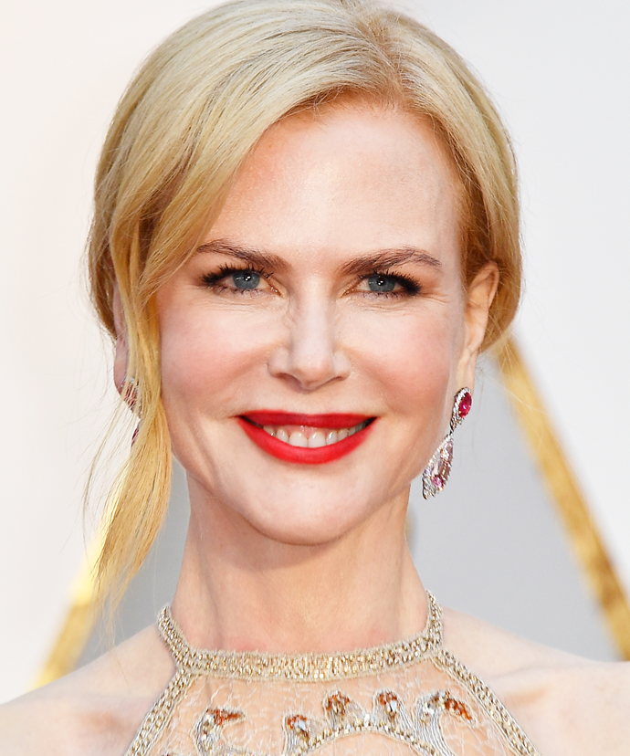 """**Nicole Kidman**<br></br> Despite dabbling in Botox, Kidman ultimately decided it wasn't for her. """"I have tried Botox, [but I] didn't like how my face looked afterwards. Now I don't use it anymore, [so] I can move my forehead again,"""" she has revealed."""