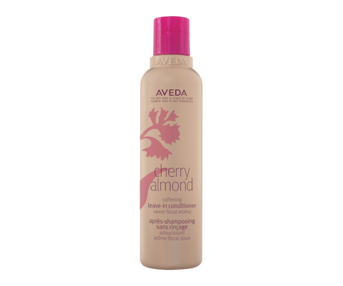 "**Cherry Almond Softening Leave-In Conditioner by Aveda, $30 at [Adore Beauty](https://www.adorebeauty.com.au/aveda/aveda-cherry-almond-softening-leave-in-conditioner-200ml.html|target=""_blank""