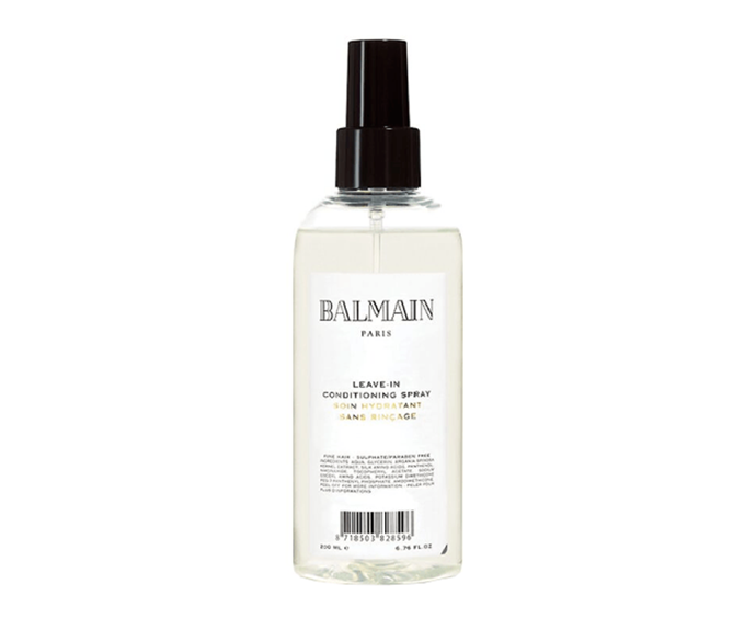 "**Leave-In Conditioning spray by Balmain Paris, $50 at [Adore Beauty](https://www.adorebeauty.com.au/balmain-paris/balmain-paris-leave-in-conditioning-spray-200ml.html|target=""_blank""