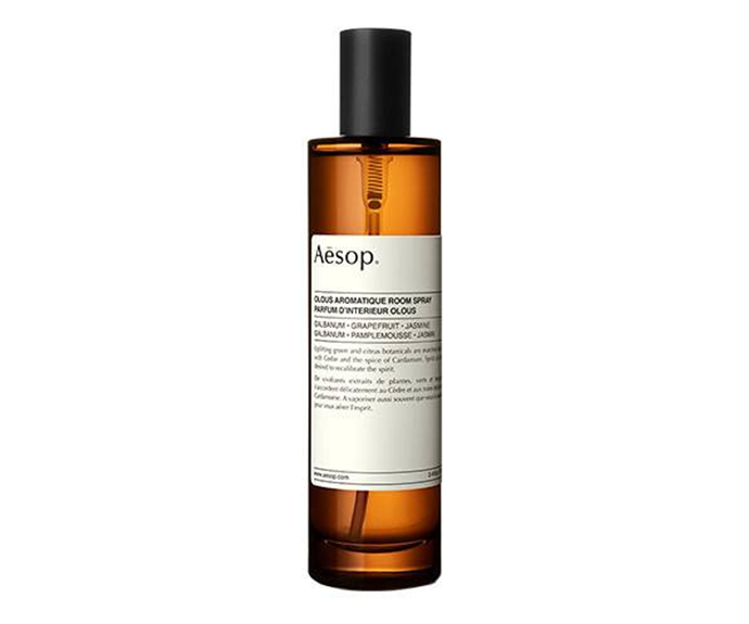 """**Olous Aromatique Room Spray by Aesop, $63 at [Adore Beauty](https://www.adorebeauty.com.au/aesop/aesop-olous-aromatique-room-spray.html
