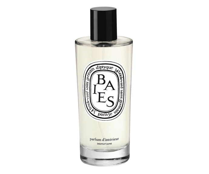"""**Baies Room Spray by Diptyque, $89 at [MECCA](https://www.mecca.com.au/diptyque/baies-room-spray/I-008719.html