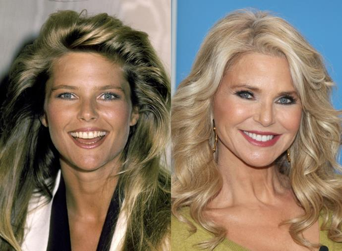 "**Christie Brinkley**<br><br>  Arguably the face of the '80s (her 1983 look remains one of the [most iconic hairstyles](https://www.harpersbazaar.com.au/beauty/most-popular-hairstyles-history-19095|target=""_blank"") in history), Christie Brinkley gained worldwide fame when she appeared in *Sports Illustrated's* Swimsuit Issues in the late 1970s, appearing on an unprecedented three consecutive covers from 1979. Pictured left in 1983, and right in January 2020, Brinkley, 66, was the face of CoverGirl for 25 years and boasts over 500 magazine covers under her belt. In more recent years, she has also worked as an actress, illustrator, writer and designer, and is well-known for her advocacy work for human, animal and environmental rights."