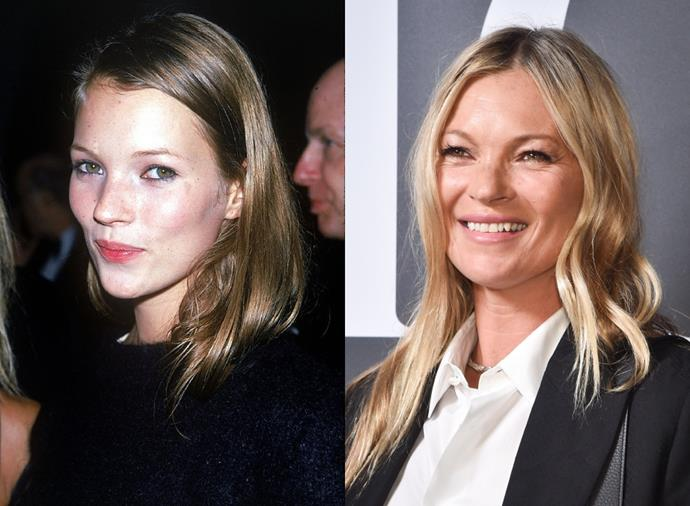 "**Kate Moss**<br><br>  Discovered at just 14 years old, Kate Moss went on to become, not only a top model and 'It'-girl, but also the defining face of the '90s controversial 'heroin chic' aesthetic. Pictured left in 1990, Moss famously starred in Calvin Klein's 1993 Obsession campaign, which catapulted her to icon status from then onward. Today, the 46-year-old (pictured right in February 2020) is still modelling, but has also branched into the business side of fashion, having notably launched her own modelling agency in 2016 simply named, [Kate Moss Agency](http://www.katemossagency.com/|target=""_blank""