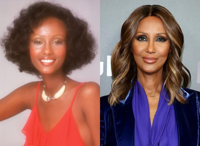 "**Iman**<br><br>  Somali supermodel Iman kicked off her modelling career in the mid '70s (pictured left in 1975, right in March 2020). She quickly became a firm fixture in the fashion world and went on to [play muse](https://www.harpersbazaar.com.au/fashion/iconic-fashion-muses-in-history-15023|target=""_blank"") for many prominent designers over the years, including Gianni Versace, Halston, Issey Miyake and most notably, Yves Saint-Laurent, who once described her as his ""dream woman"". Beyond modelling, she founded Iman Cosmetics in 1994, which gained vast recognition for being one of the first makeup brands to cater to darker skin tones, has appeared in a slew of TV and film roles, and is a vocal philanthropist for a number of causes."