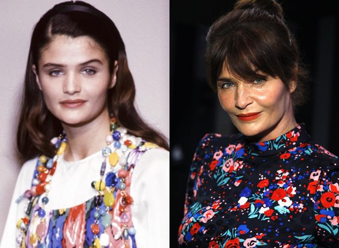 """**Helena Christensen**<br><br>  Denmark's Helena Christensen was among the reigning ['Magnificent Seven'](https://www.nytimes.com/1996/04/21/style/supermodels-hot-as-ever-or-on-ice-no-stars-means-no-sizzle.html