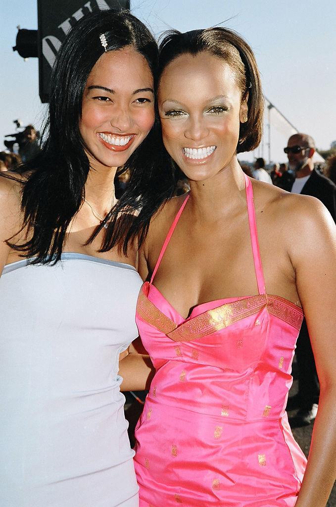 Kimora Lee Simmons and Tyra Banks, 1998