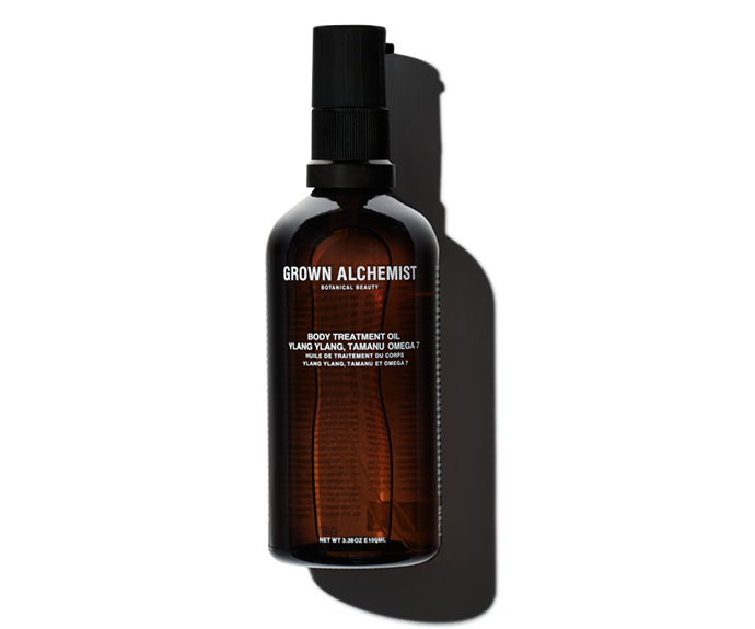 """**Ylang Ylang, Tamanu, Omega 7 Body Treatment Oil, $38 by [Grown Alchemist](https://www.grownalchemist.com/au/body-treatment-oil-ylang-ylang-tamanu-omega7.html