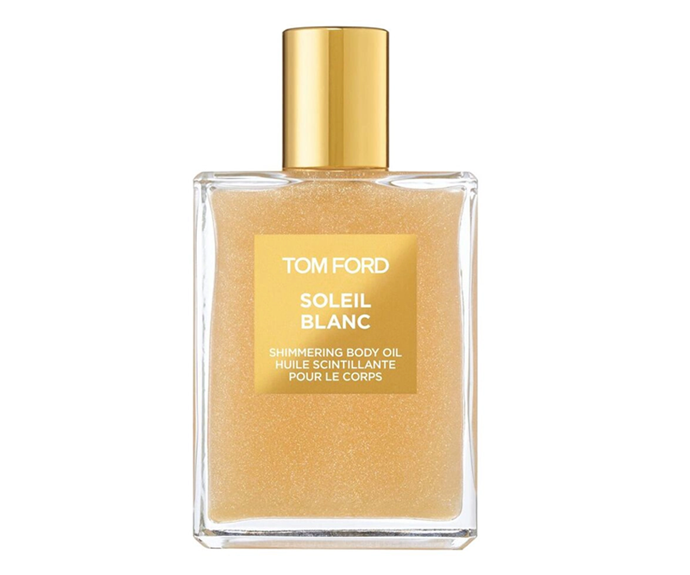 """**Soleil Blanc Shimmering Body Oil by Tom Ford, $140 at [Sephora](https://www.sephora.com.au/products/tom-ford-beauty-soleil-blanc-shimmering-body-oil/v/default