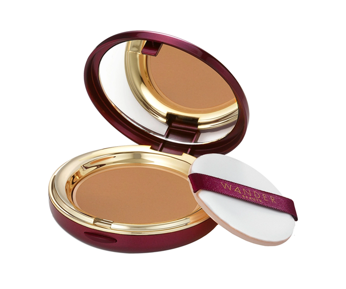 """**Wanderlust Powder Foundation by Wander Beauty, $65 at [Sephora](https://www.sephora.com.au/products/wander-beauty-wanderlust-powder-foundation/v/rich-deep