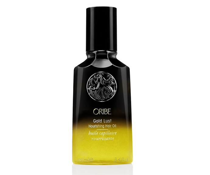 "**Gold Lust Nourishing Hair Oil by Oribe, $81 at [Adore Beauty](https://www.adorebeauty.com.au/oribe/oribe-gold-lust-nourishing-hair-oil.html|target=""_blank""