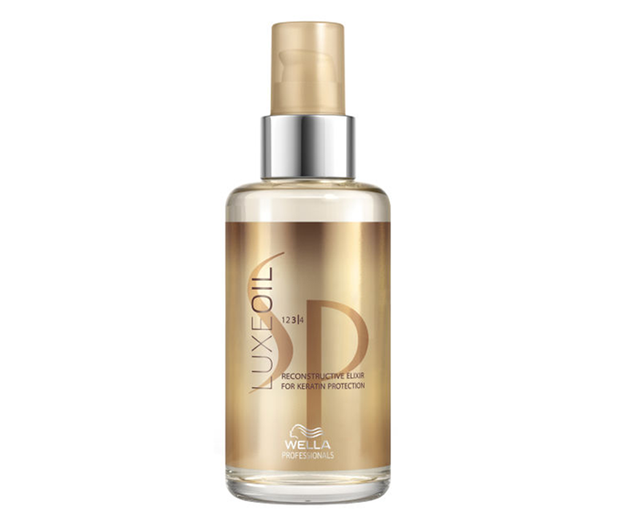 "**SP Luxe Oil Reconstructive Elixir by Wella, $46.95 at [Adore Beauty](https://www.adorebeauty.com.au/wella-sp/wella-sp-luxeoil-reconstructive-elixir.html|target=""_blank""