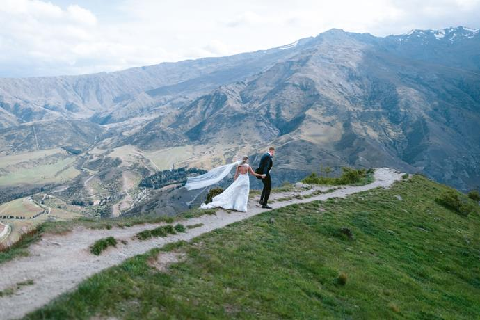 **On why she chose Queenstown:** My childhood holiday spot was Queenstown, and it holds a special place in my heart. I always dreamed of getting married in Queenstown, and after Sam and I had spent two extraordinary holidays in Queenstown together, he was convinced it was perfect.