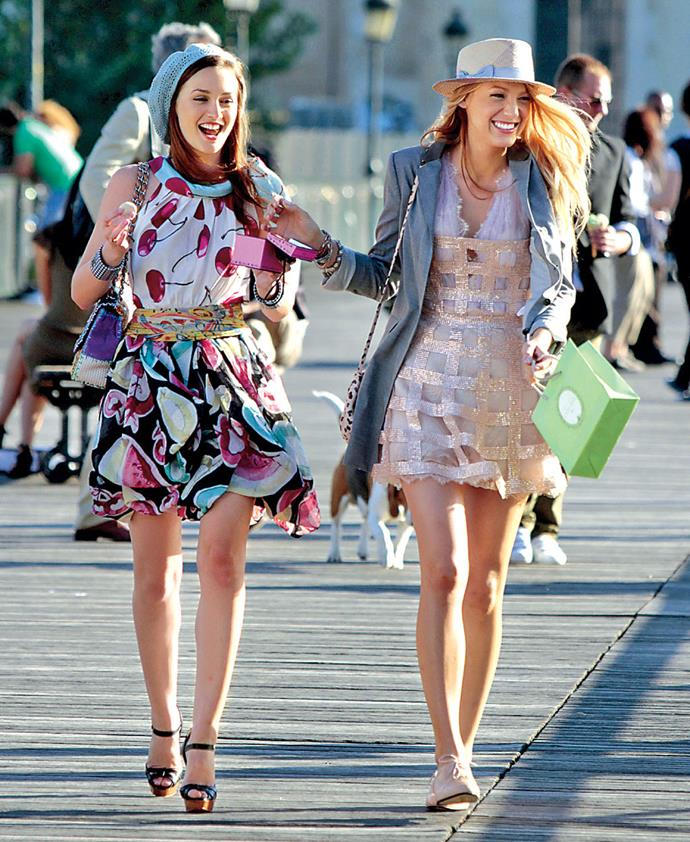 """***Gossip Girl***<br><br>  No list of fashionable TV shows worth its salt would be complete without [*Gossip Girl*](https://www.harpersbazaar.com.au/fashion/best-gossip-girl-style-moments-14371 target=""""_blank""""). One of the most influential series of the 2000s and 2010s, the show made its take on preppy Upper East Style one of the biggest trends of the decade. Moreover, each character's style evolved throughout the years, and many of Blair and [Serena's outfits](https://www.harpersbazaar.com.au/fashion/serena-gossip-girl-outfits-18943 target=""""_blank"""") give us wardrobe envy to this day."""