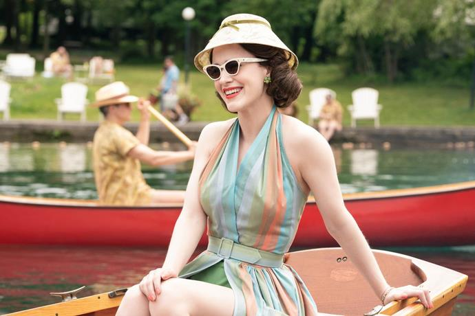 ***The Marvelous Mrs. Maisel***<br><br>  Another period piece brimming with style, *The Marvelous Mrs. Maisel's* costume designer Donna Sakowska won a Costume Desginers Guild Award for her work on the comedy. And it's not hard to see why, with lead character and aspiring comic Midge Maisel's wardrobe a stylish '50s affair featuring statement accessories and plenty of colour.