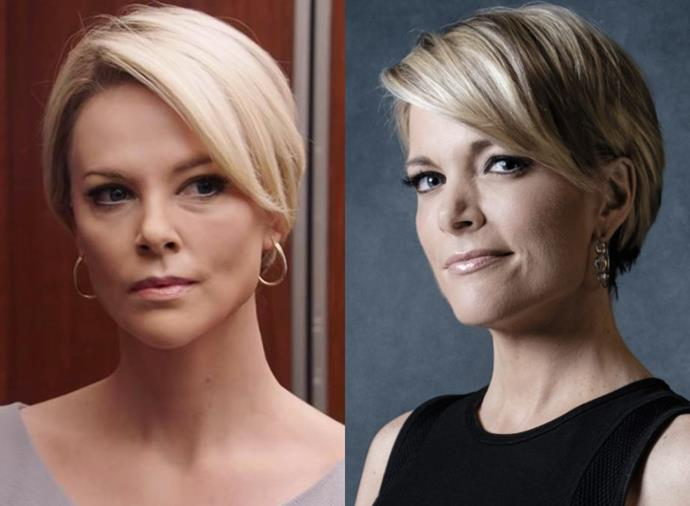 """**Charlize Theron as Megyn Kelly in** ***Bombshell*** **(2020)**<br><br>  To fully embody former Fox News presenter Megyn Kelly in the true story-inspired [*Bombshell*](https://www.harpersbazaar.com.au/culture/bombshell-true-story-19153