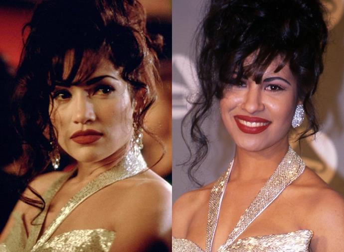 **Jennifer Lopez as Selena Quintanilla-Pérez  in** ***Selena*** **(1997)**<br><br>  While Jennifer Lopez has made a number of movies in recent years, many forget that she had her breakout role playing Mexican-American singer Selena Quintanilla-Pérez in 1997's *Selena*. The role earned Lopez a Golden Globe nomination, and made her the first Latina actress to earn over US $1 million for a movie.