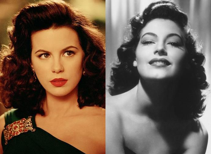 """**Kate Beckinsale as Ava Gardner in** ***The Aviator*** **(2005)**<br><br>  Channelling her distinctive voice and carefully coiffed hair aside, Kate Beckinsale had to gain around 10kg for her role as old Hollywood star Ava Gardner, something she did by eating mainly chocolates. """"It was quite fun,"""" she [said](https://www.cbsnews.com/news/kate-beckinsales-ava-gardner/